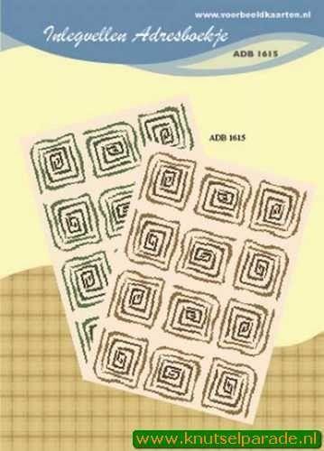 Inlegvellen adresboekje ADB 1615 (Locatie: D41 )