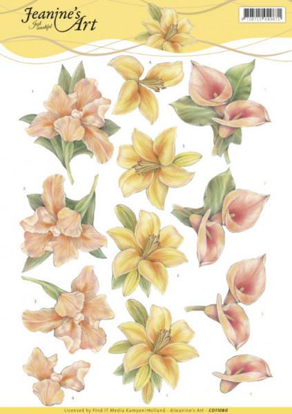 Jeanine's Art knipvel bloemen CD11080 (Locatie: 0136)