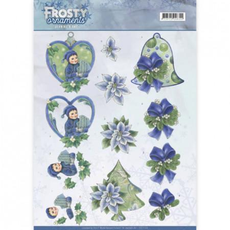 Jeanine's Art knipvel kerstmis Frosty Ornaments CD11129 (Locatie: 5556)