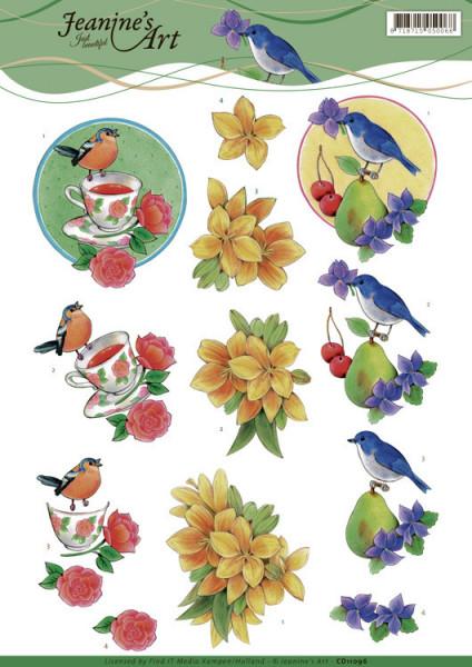 Jeanine's Art knipvel vogels CD11096 (Locatie: 2420)