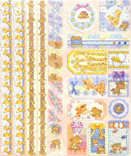Joy!Crafts Sparkling Embossed stickers Baby 6013/0022 (Locatie: 1RA1)