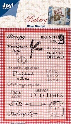 Joy Crafts stempel teksten Bakery 6410/0087 (Locatie: A340 )
