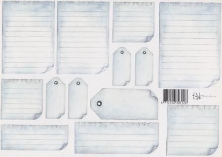 Knipvel Marjoleine labels (Locatie: 1424)