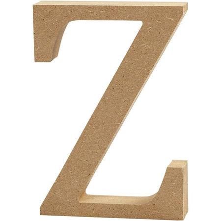 Letter Z, hoogte 13 cm, dikte 2 cm, MDF, 1stuk (Locatie: KB)