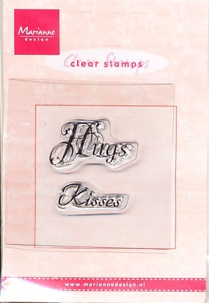 Marianne Design Clear stamp Hugs/Kisses CS0888 (Locatie: NN027)