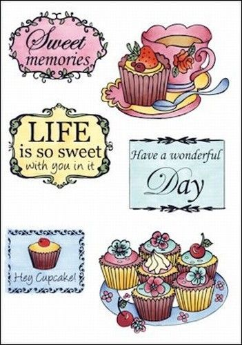 Marianne Design Clear Stamp Tea and cupcakes EWS2206 (Locatie: H380 )