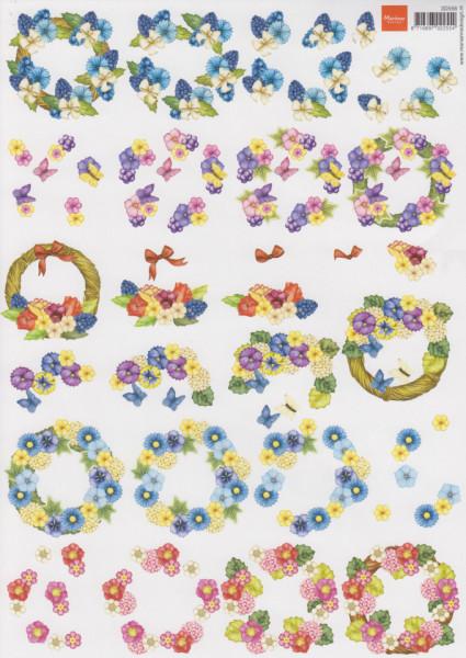 Marianne Design knipvel bloemen 3D556 (Locatie: 4424)