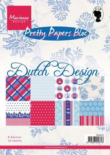 Marianne Design Pretty Papers Bloc Dutch Design A5 PK9079