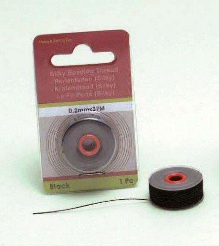 Silky kralendraad zwart 0.2 mm x 37 mtr 12050-5001 (Locatie: K3)