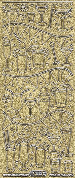 Starform sticker glitter goud/zilver 7032 (Locatie: HH112 )
