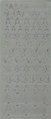 Starform sticker zilver kerst 853 (Locatie: U376)