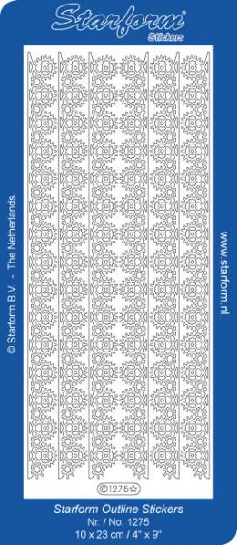 Starform sticker zilver randje 1275 (Locatie: A248)