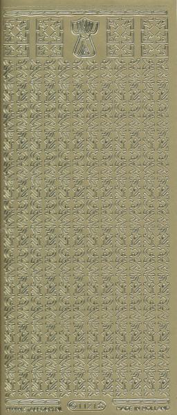 Starform stickervel goud tekens 1121 (Locatie: u075)