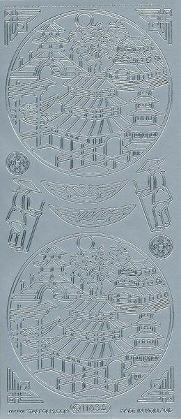 Starform stickervel Japan zilver 1163 (Locatie: j253)