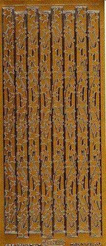 Starform stickervel kerststerren goud 8539 (Locatie: C256)