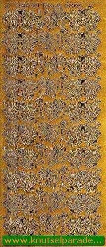 Starform stickervel vlinders goud 1188 (Locatie: N62 )