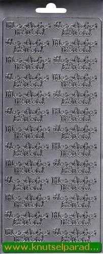 Sticker zilver herzlichen beileid 3629 (Locatie: L142 )