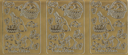 Stickervel goud pasen (Locatie: j415)