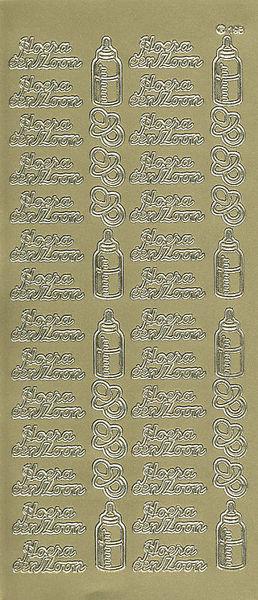 Stickervel Hoera een Zoon goud 198 (Locatie: u203)