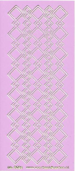Stickervel lila/goud nr. 3022 (Locatie: K130 )