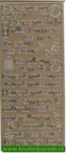 Stickervel met franse teksten (Locatie: A148 )