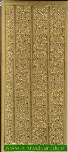 Stickervel starform randje goud 1083 (Locatie: U004)