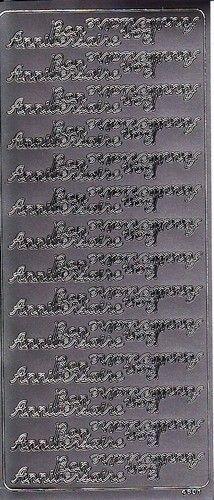 Stickervel zilver Bon Anniversaire nr. 4601 (Locatie: i349 )
