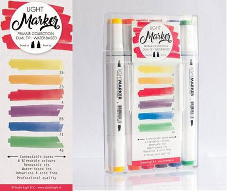 Studio Light Primair - Box 6 water based dual tip markers bright Marker01 (Locatie: 1RA4)