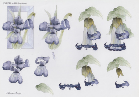 Wekabo knipvel bloemen 603 (Locatie: 2538)