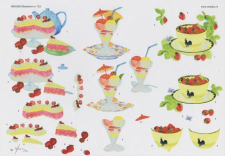 Wekabo taart/ijs/fruit 753 (Locatie: 4303)