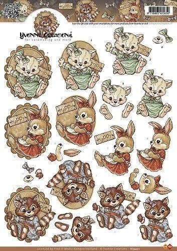 Yvonne Creation's knipvel konijntjes HJ9401 (Locatie: 4802)