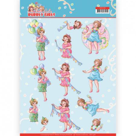 Yvonne Creations knipvel bubbly girls verjaardag CD11478 (Locatie: 1564)