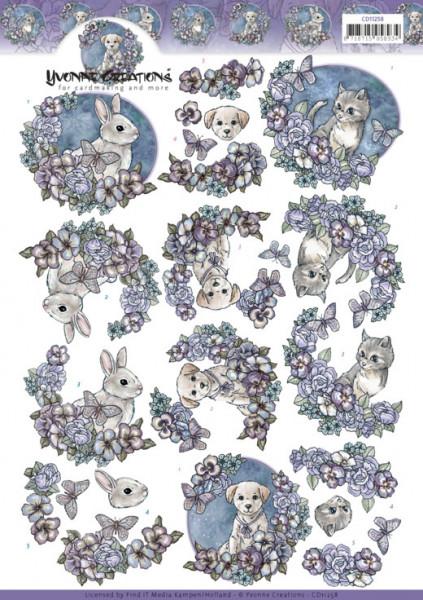 Yvonne Creations knipvel huisdieren CD11258 (Locatie: 4313)