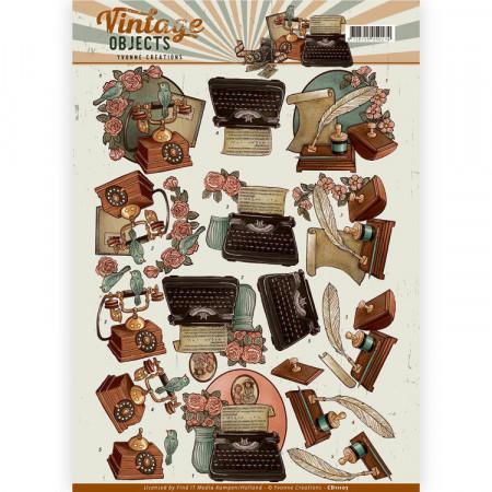 Yvonne Creations knipvel vintage objects CD11107 (Locatie: 5848)
