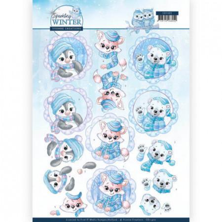 Yvonne Creations knipvel winter CD11402 (Locatie: 5542)
