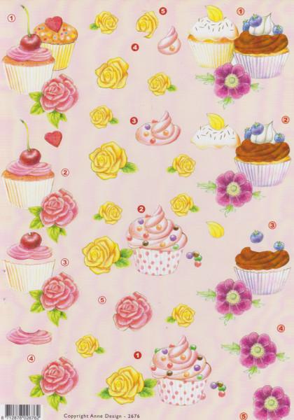 Anne Design knipvel cakejes 2676 (Locatie: 0903)