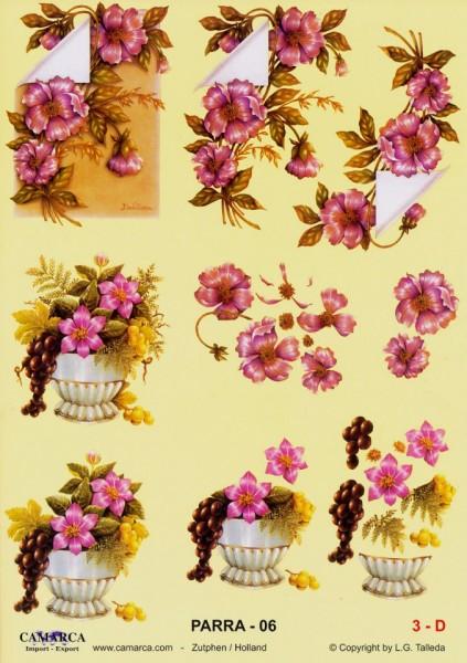 Camarca knipvel bloemen nr. parra 06 (Locatie: 4507)