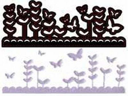 Crafts-Too snij/embosmal Butterfly Garden CTDI7012 (Locatie: NN278 )