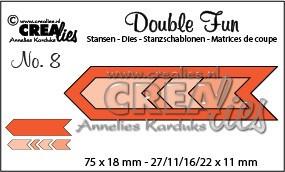 Crealies stansmal zigzag pijlen CLDF08 (Locatie: K175)