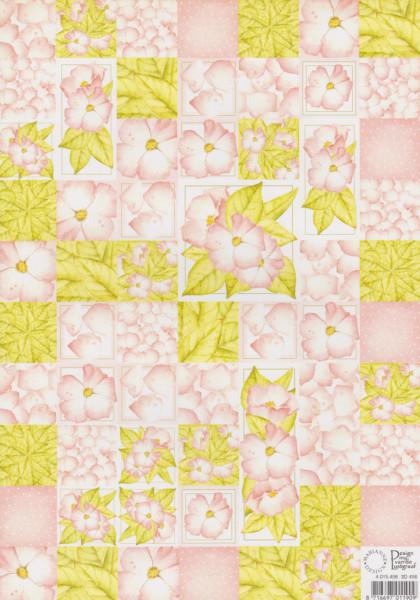 Decoratiepapier bloemen 3D456 (Locatie: 2712)