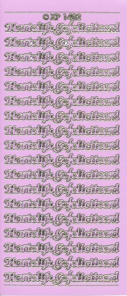 Doodey stickervel hartelijk gefeliciteerd lila XP1402 (Locatie: T146)