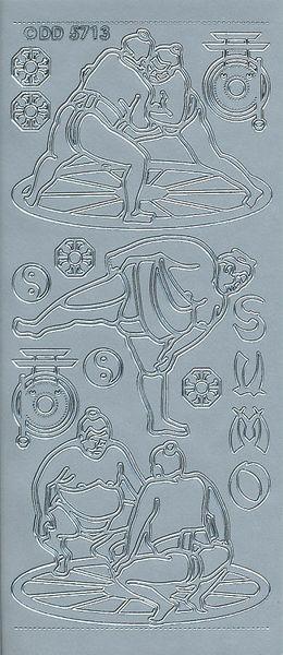 Doodey stickervel sumoworstelen zilver DD5713 (Locatie: U218)