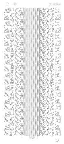 Find It stickervel glanzend zilver CD3062 (Locatie: j565)