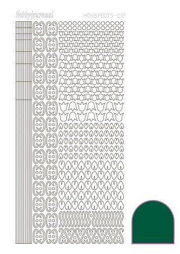 Hobbydots stickervel groen STDA122 (Locatie: N253 )