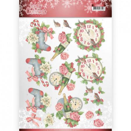 Jeanine's Art knipvel kerstmis CD11377 (Locatie: 4618)