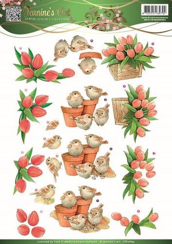 Jeanine's Art knipvel tulpen CD10835 (Locatie: 5536)