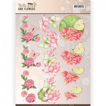 Jeanine's Art knipvel vlinders en bloemen CD11003 (Locatie: 2668)