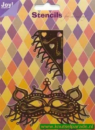 Joy! Crafts snij- embos- en borduurstencils Venetiaans kattenmasker 6001/0111 (Locatie: J129 )