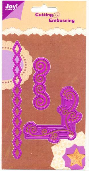 Joy Crafts snij- en embosmal hoek en randen 6002/0013 (Locatie: G091)