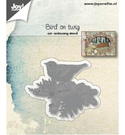 Joy! Crafts snij- en embosmal Vogel op tak 6002/1182 (Locatie: M021)
